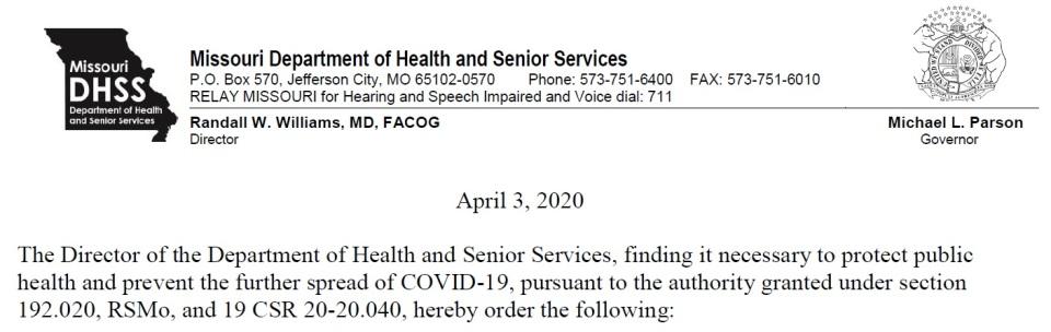 Governor Parson 4-3-2020 Eng