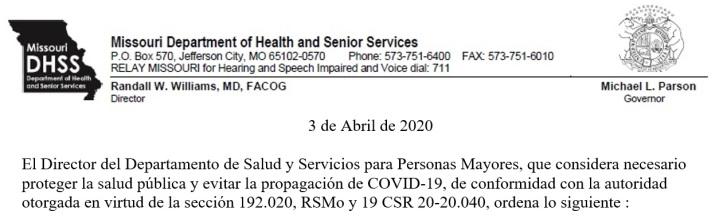 Governor Parson 4-3-2020 SP