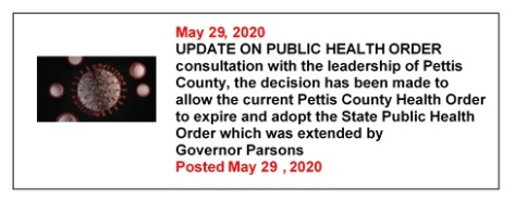 5-29-2020 Update On Public Health Order