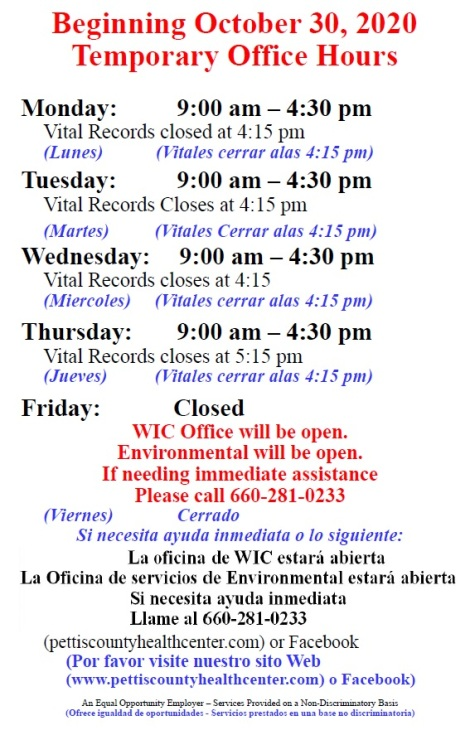 Temp PCHC Office Hours 2020
